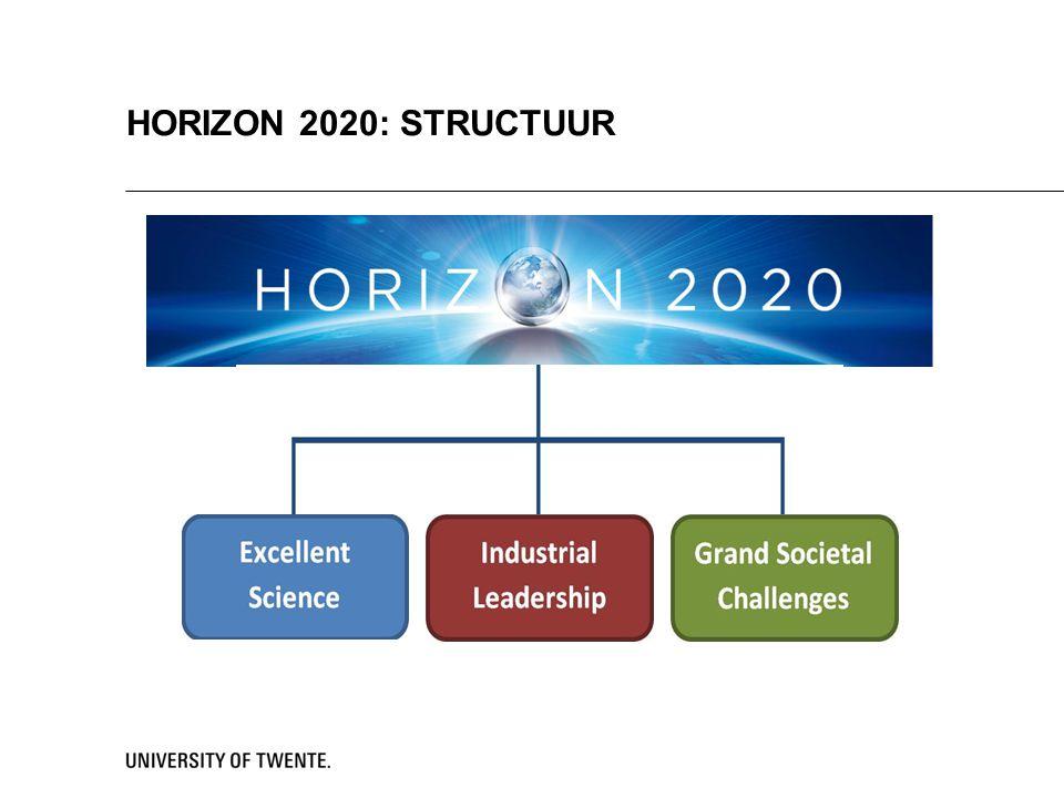 HORIZON 2020: STRUCTUUR