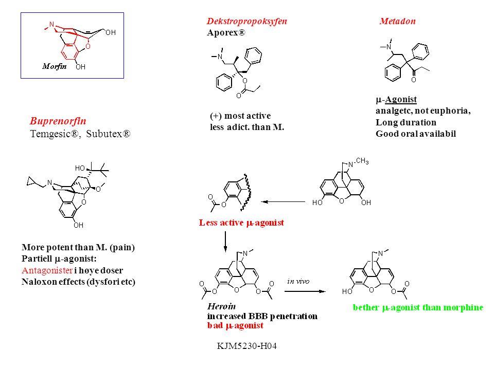 KJM5230-H04 Buprenorfin Temgesic®, Subutex® More potent than M.