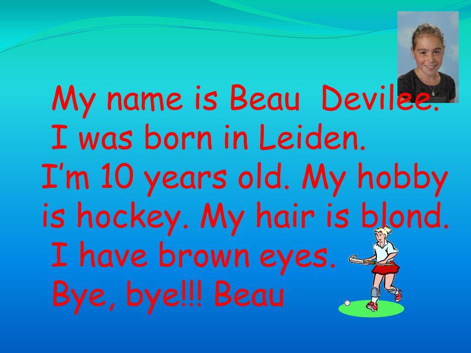 Hello, my name is Praida van Soest.I'm 10 years old.