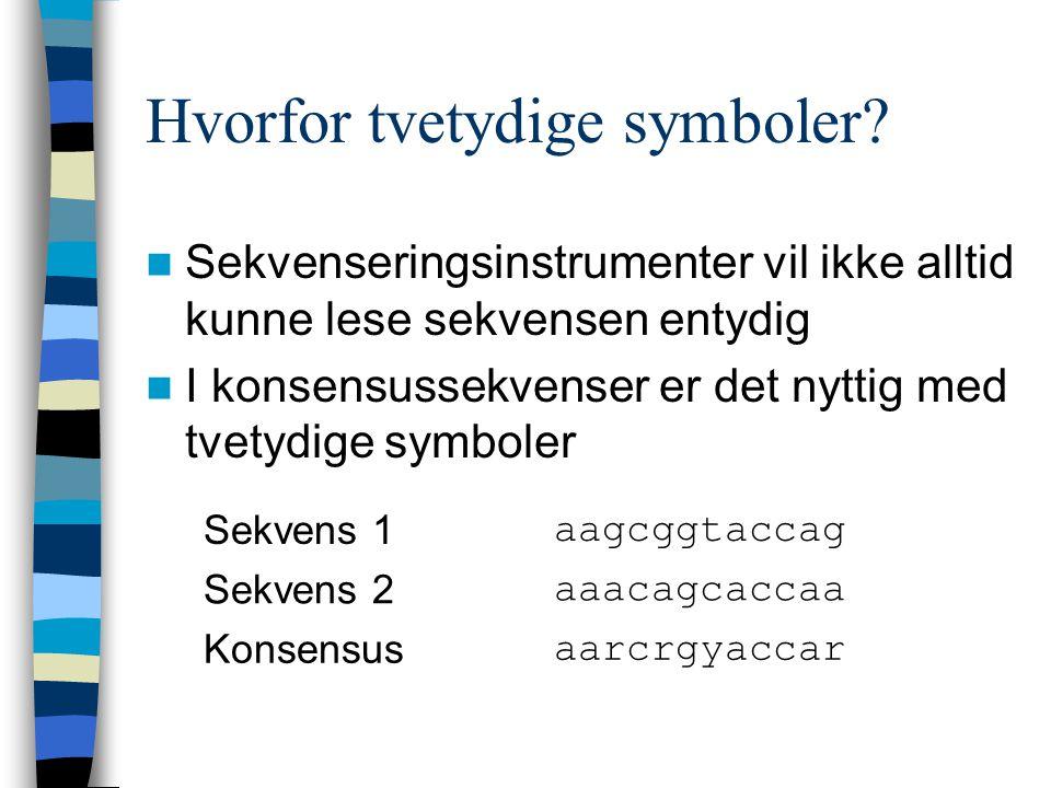 Hvorfor tvetydige symboler.