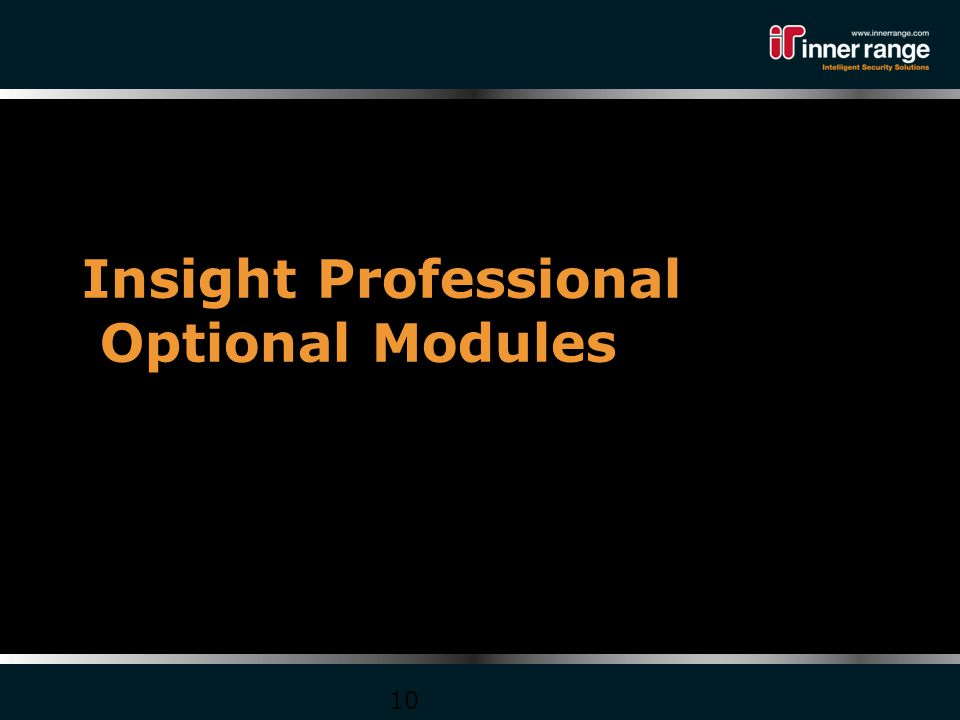 Insight Professional Optional Modules 10