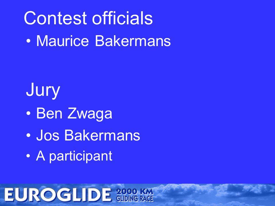 Contest officials Maurice Bakermans Jury Ben Zwaga Jos Bakermans A participant