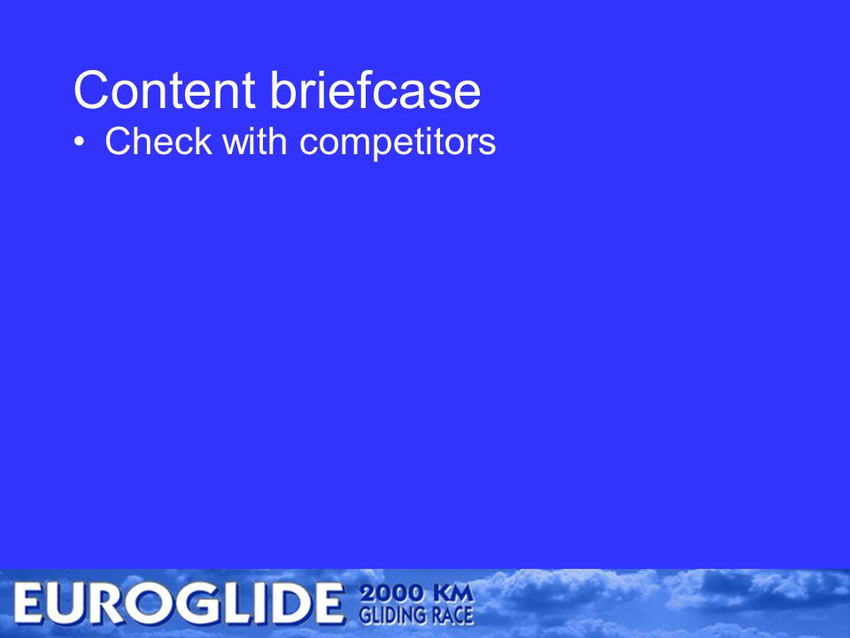 Content briefcase Check with competitors