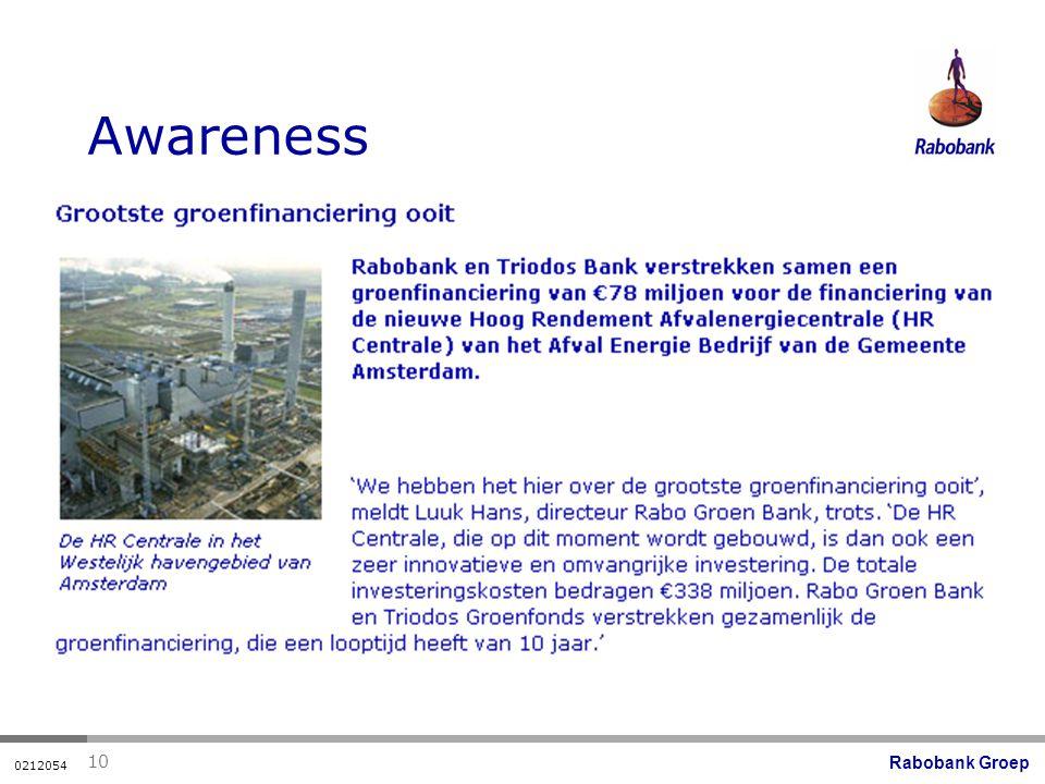 Rabobank Groep 0212054 10 Awareness
