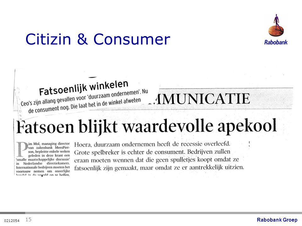 Rabobank Groep 0212054 15 Citizin & Consumer