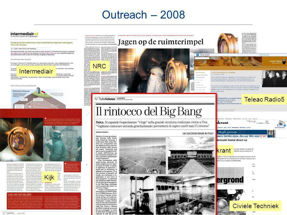 NRC De Volkskrant Technisch weekblad Kijk Intermediair Teleac Radio5 Civiele Techniek Outreach – 2008
