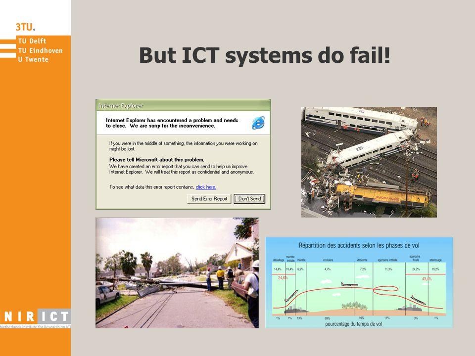 But ICT systems do fail!