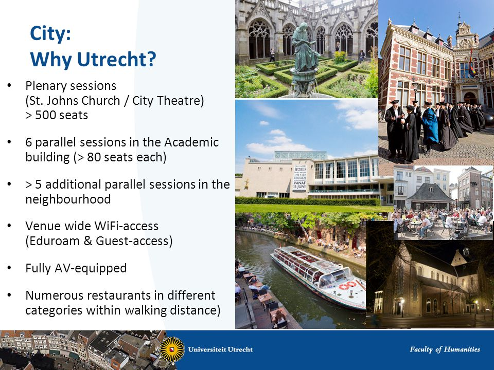 City: Why Utrecht. Plenary sessions (St.