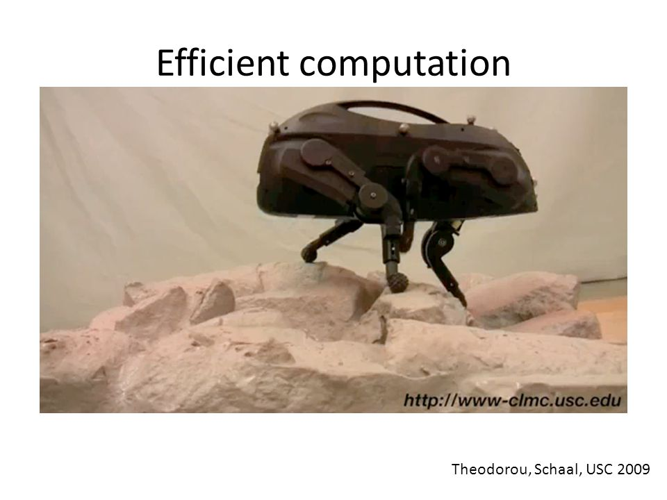 Efficient computation Theodorou, Schaal, USC 2009