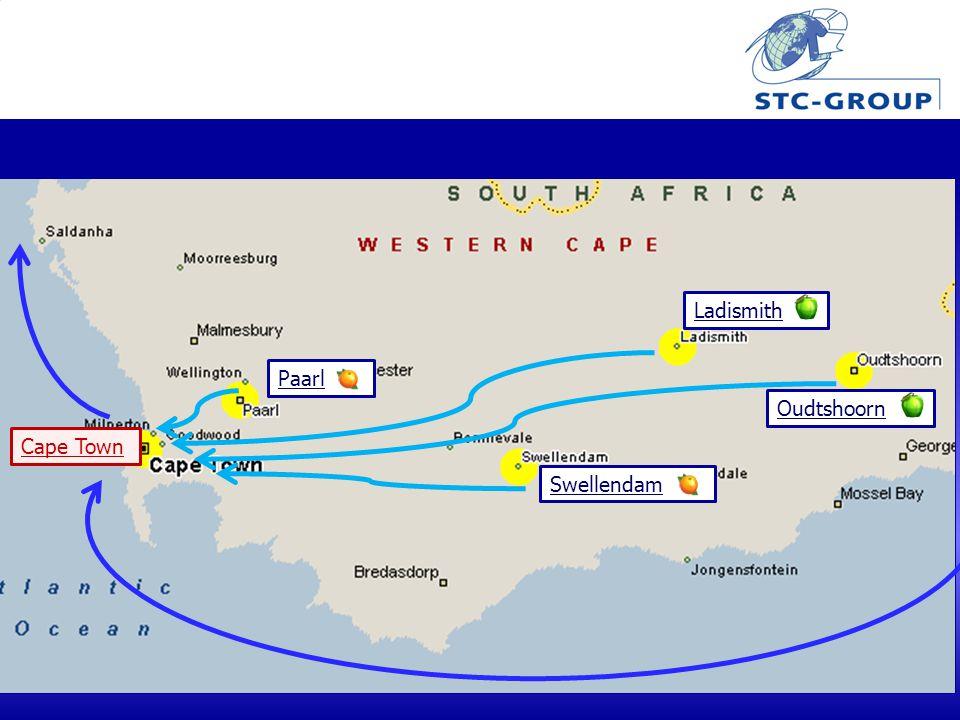 Paarl Swellendam Ladismith Oudtshoorn Cape Town
