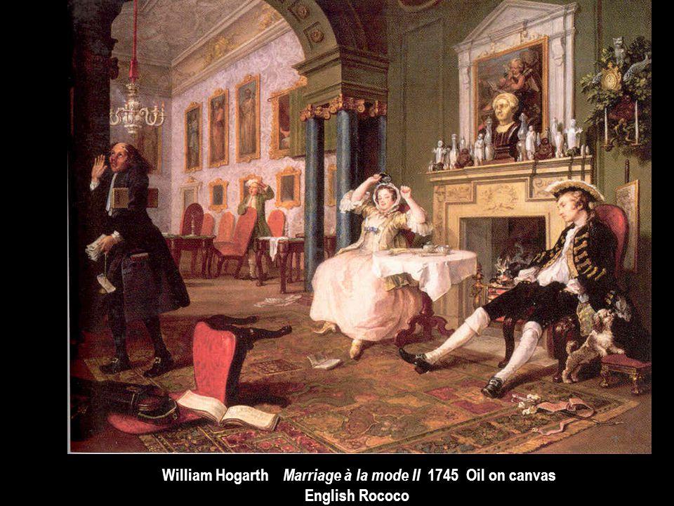 William Hogarth Marriage à la mode II 1745 Oil on canvas English Rococo