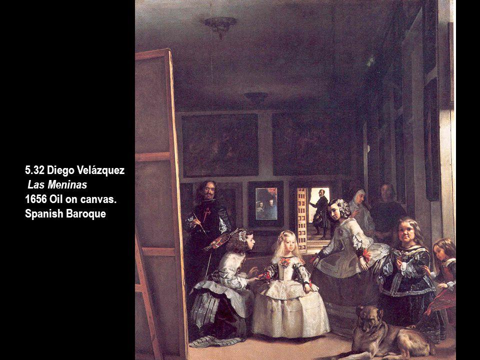 5.32 Diego Velázquez Las Meninas 1656 Oil on canvas. Spanish Baroque