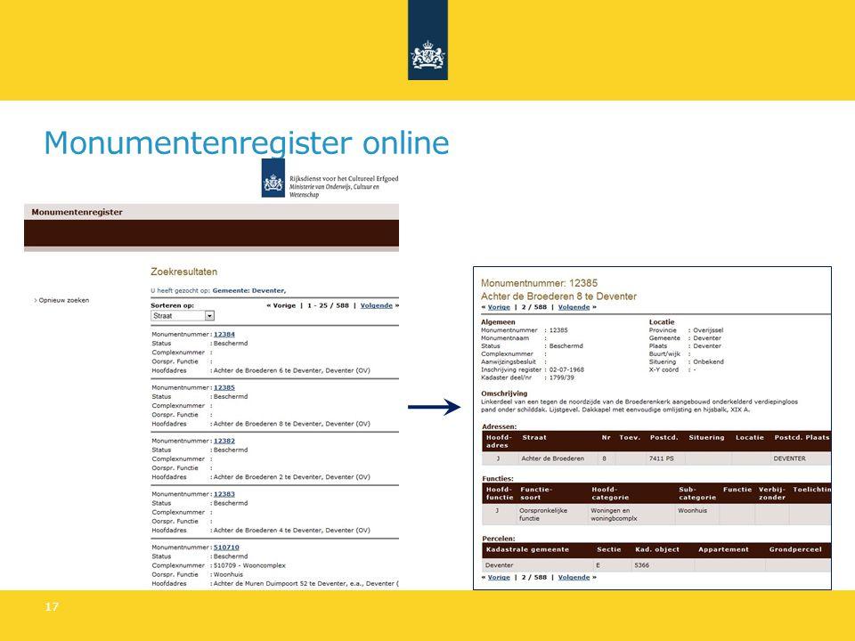 Monumentenregister online 17