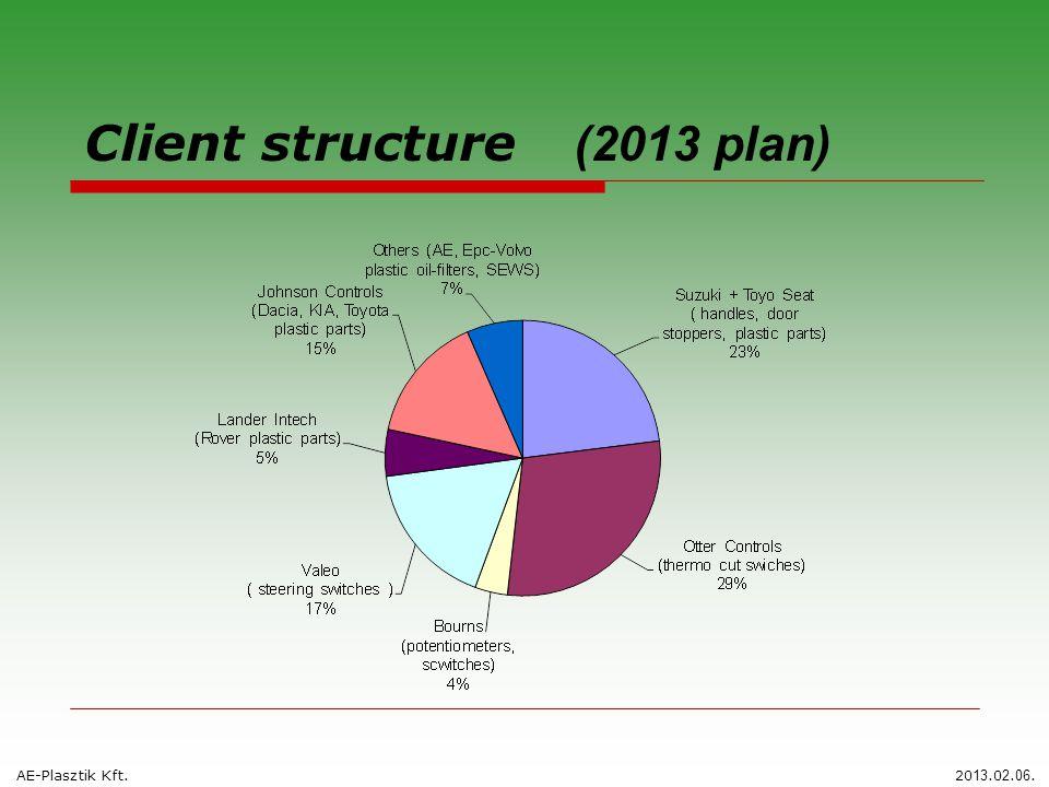 Client structure (2013 plan) AE-Plasztik Kft.20 13.0 2. 06.