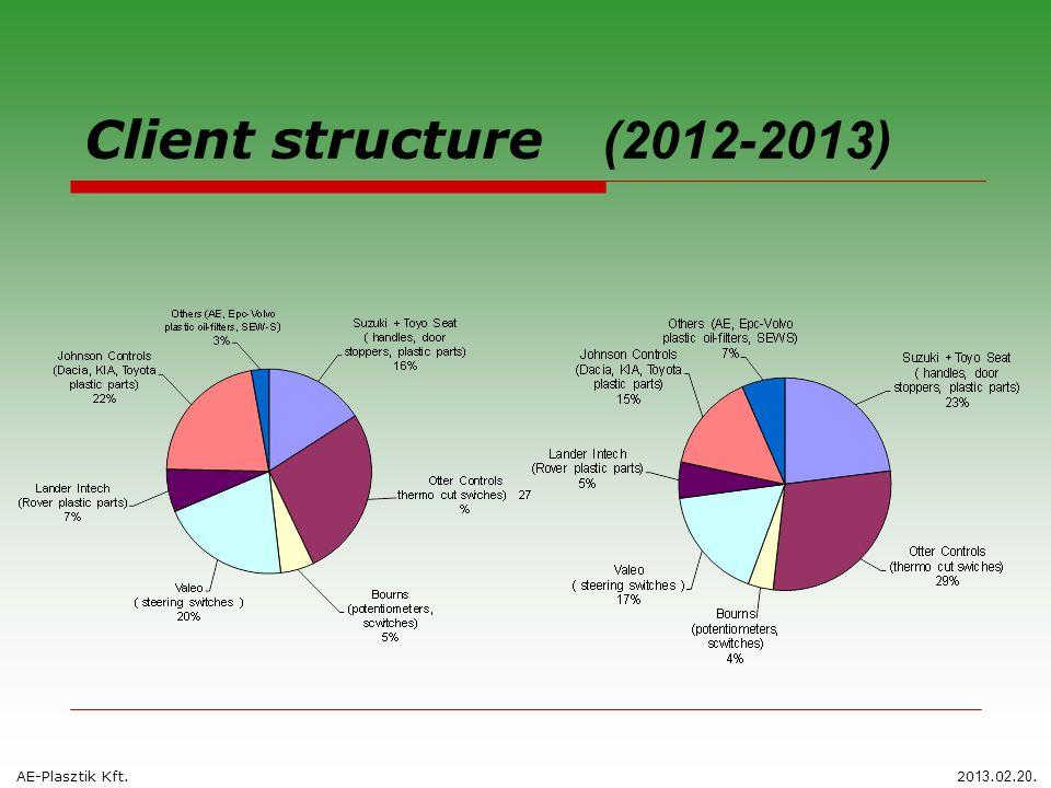 Client structure (2012-2013) AE-Plasztik Kft.20 13.0 2. 20.