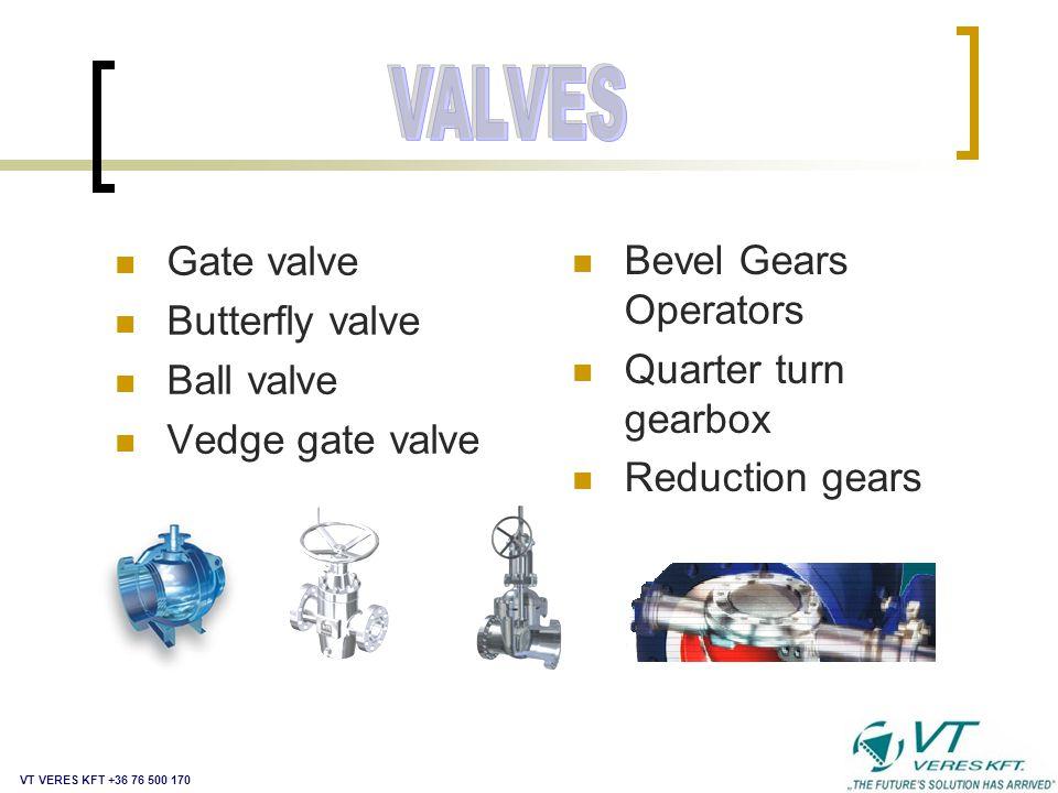 CONTROLS VALVES ACTUATORS MAIN PARTS VT VERES KFT +36 76 500 170