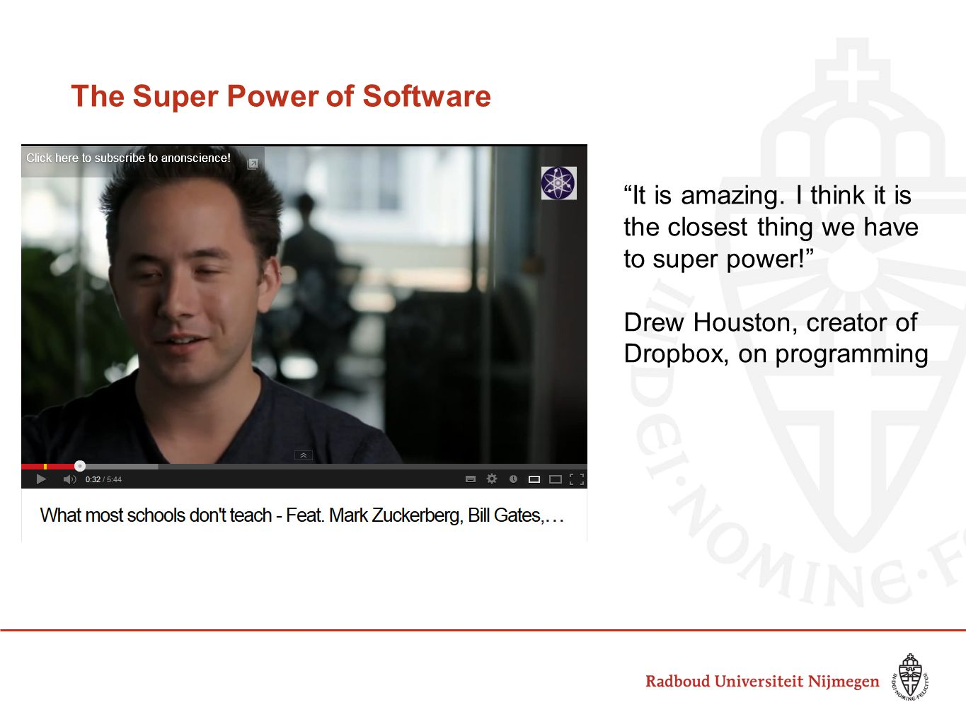 The Super Power of Software It is amazing.