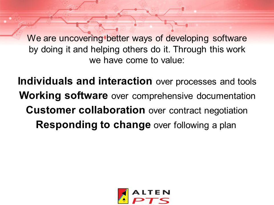We are uncovering better ways of developing software by doing it and helping others do it.