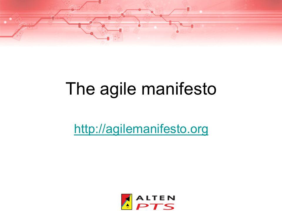 The agile manifesto http://agilemanifesto.org