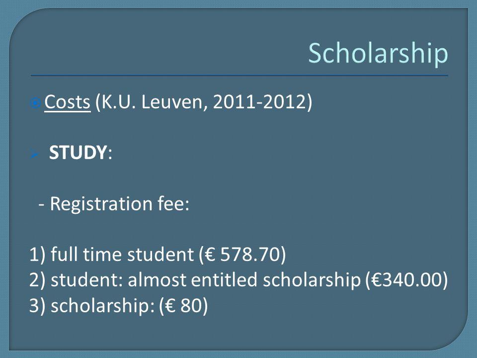  Costs (K.U.