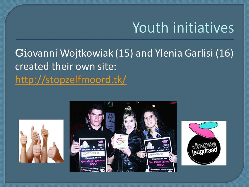 Gi ovanni Wojtkowiak (15) and Ylenia Garlisi (16) created their own site: http://stopzelfmoord.tk/
