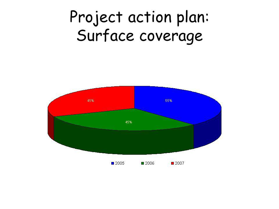 Project action plan: Surface coverage