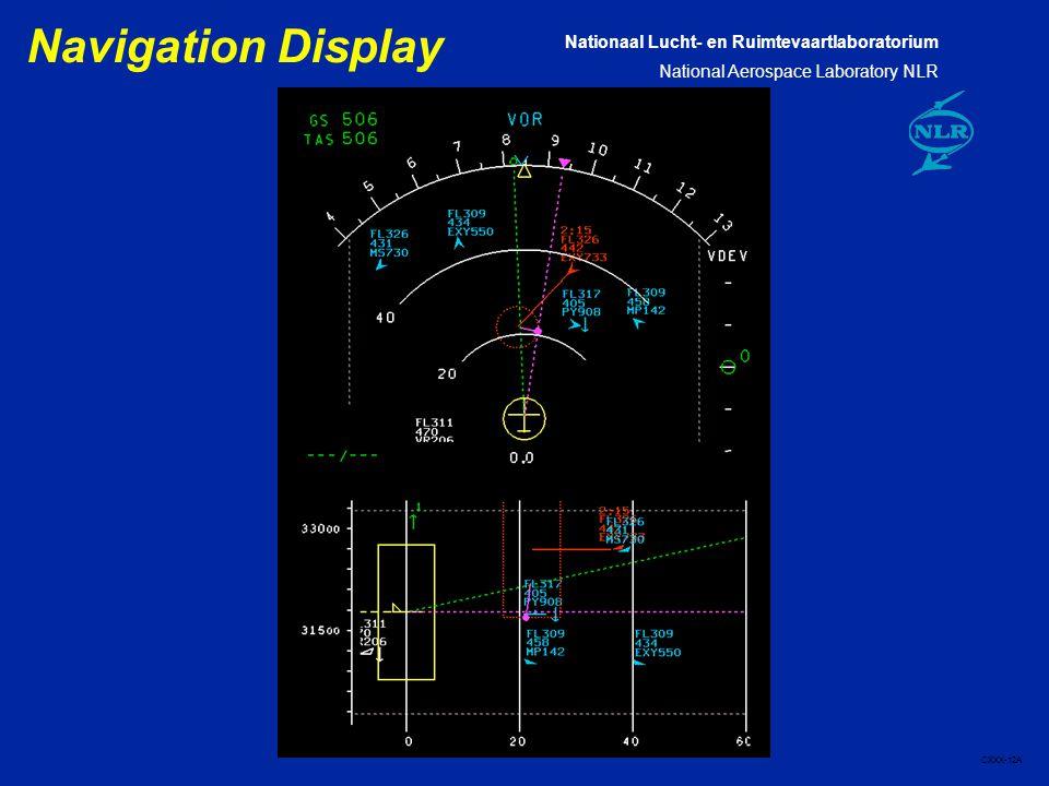 Nationaal Lucht- en Ruimtevaartlaboratorium National Aerospace Laboratory NLR CXXX-12A Navigation Display