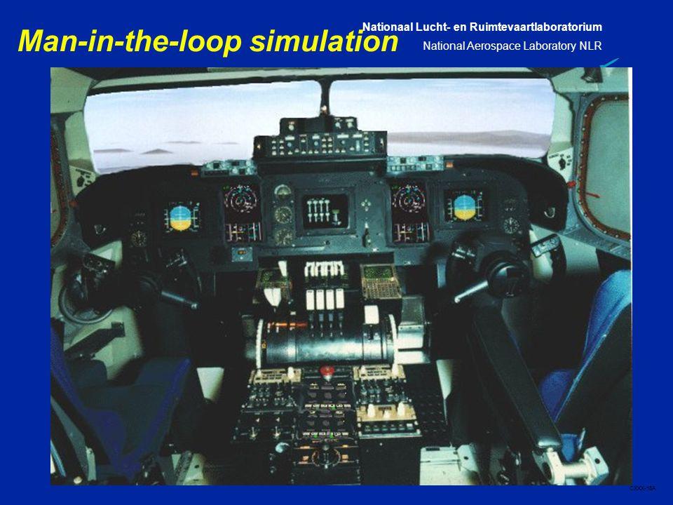 Nationaal Lucht- en Ruimtevaartlaboratorium National Aerospace Laboratory NLR CXXX-18A Man-in-the-loop simulation