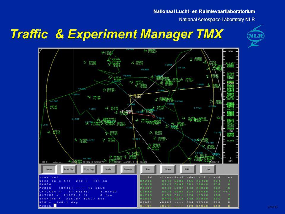 Nationaal Lucht- en Ruimtevaartlaboratorium National Aerospace Laboratory NLR CXXX-5A Traffic & Experiment Manager TMX