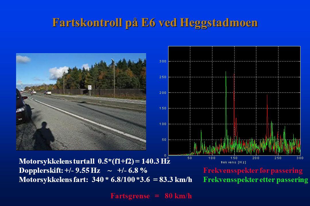 Lyden forandrer frekvens ved bevegelse o o Bilens hastighet: 70 km/time ~ 6% av lyd-hastighet Ét halvtone-trinn i 12-toneskalaen: 2 = 5.94 % Endring i frekvens (turtall): 6% + 6% = 12 % 1/12 Hans Torp NTNU, Norway