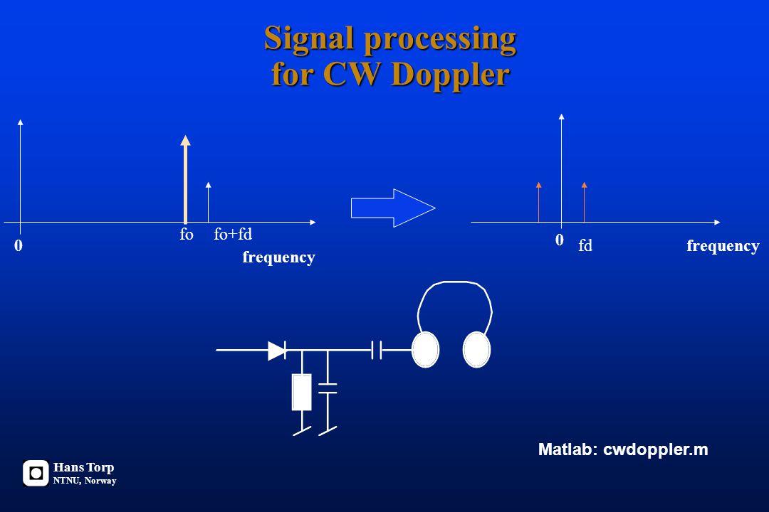 Ultralyd Doppler Ultralyd probe Dopplerskift fd = fo v/c Dopplerskift fd = fo v/c + fo v/c = 2 fo v/c