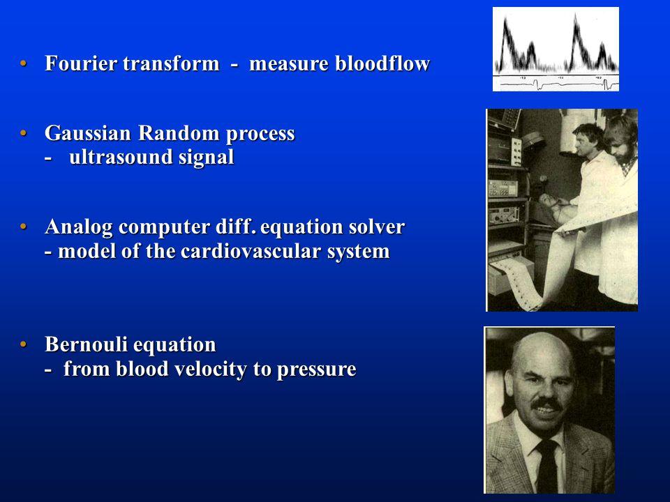 Fourier transform - measure bloodflowFourier transform - measure bloodflow Gaussian Random process - ultrasound signalGaussian Random process - ultrasound signal Analog computer diff.