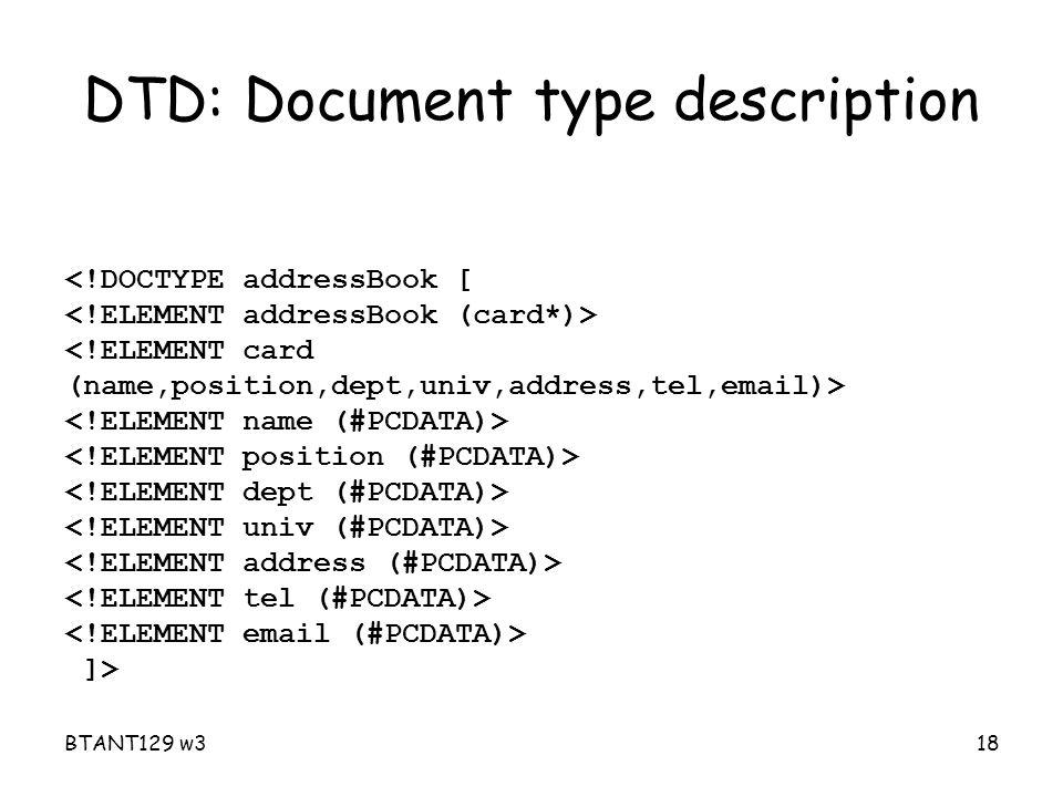 BTANT129 w318 DTD: Document type description ]>
