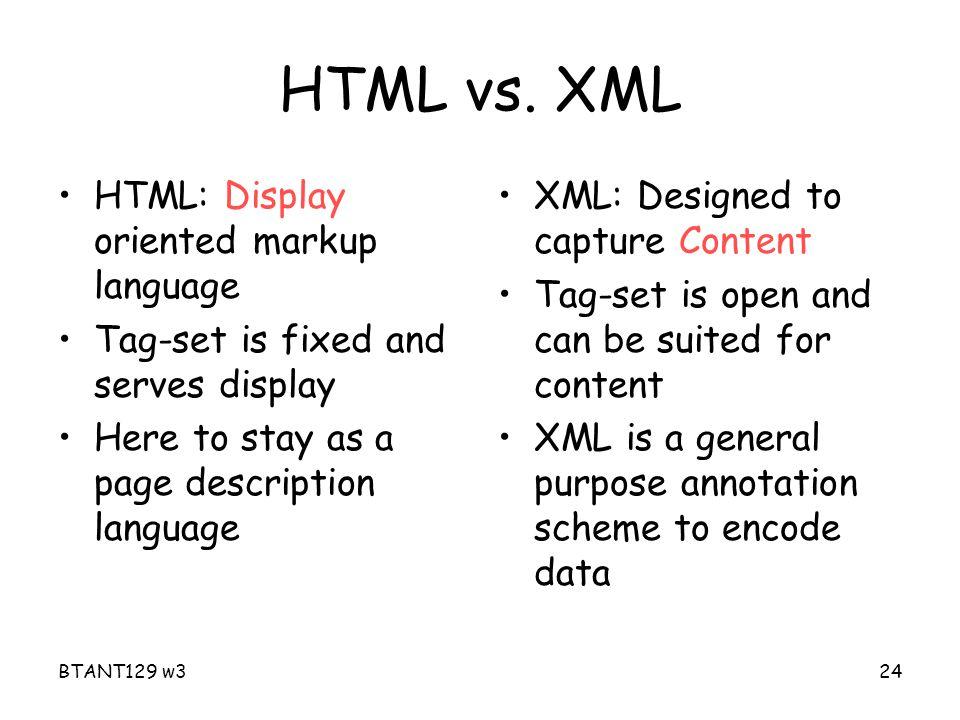 BTANT129 w324 HTML vs.