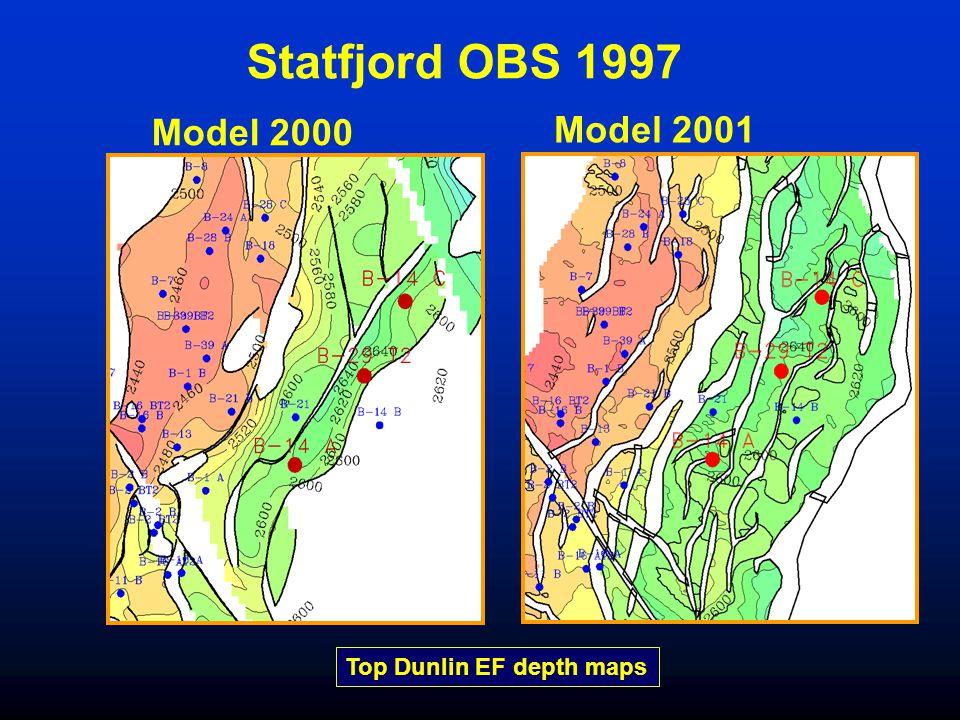 Model 2000 Model 2001 Top Dunlin EF depth maps Statfjord OBS 1997