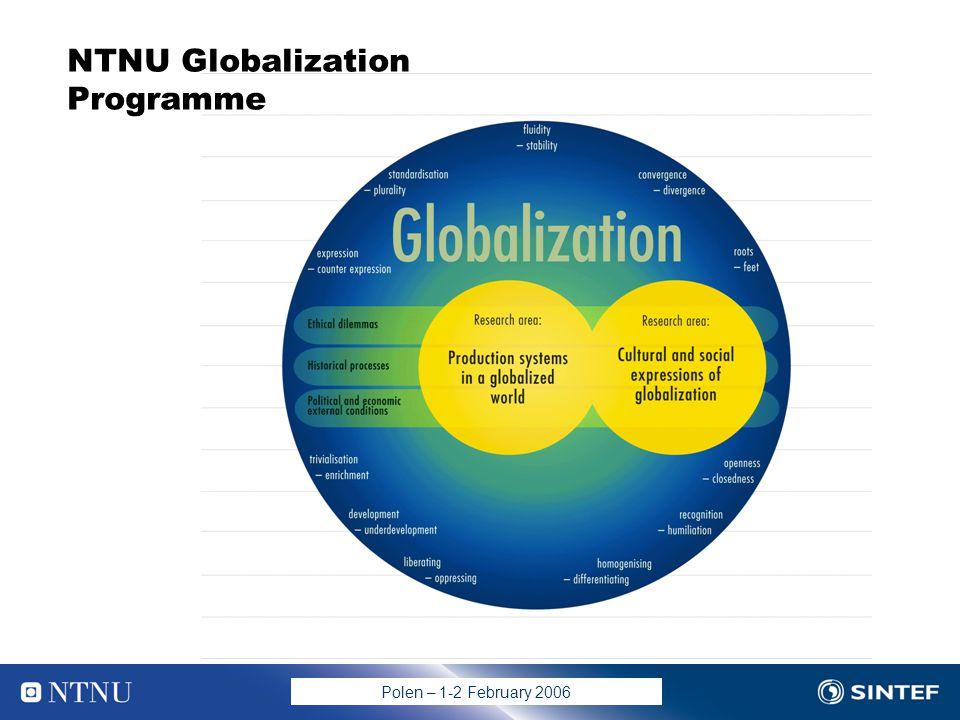 Polen – 1-2 February 2006 NTNU Globalization Programme