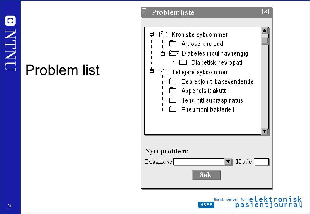 31 Problem list