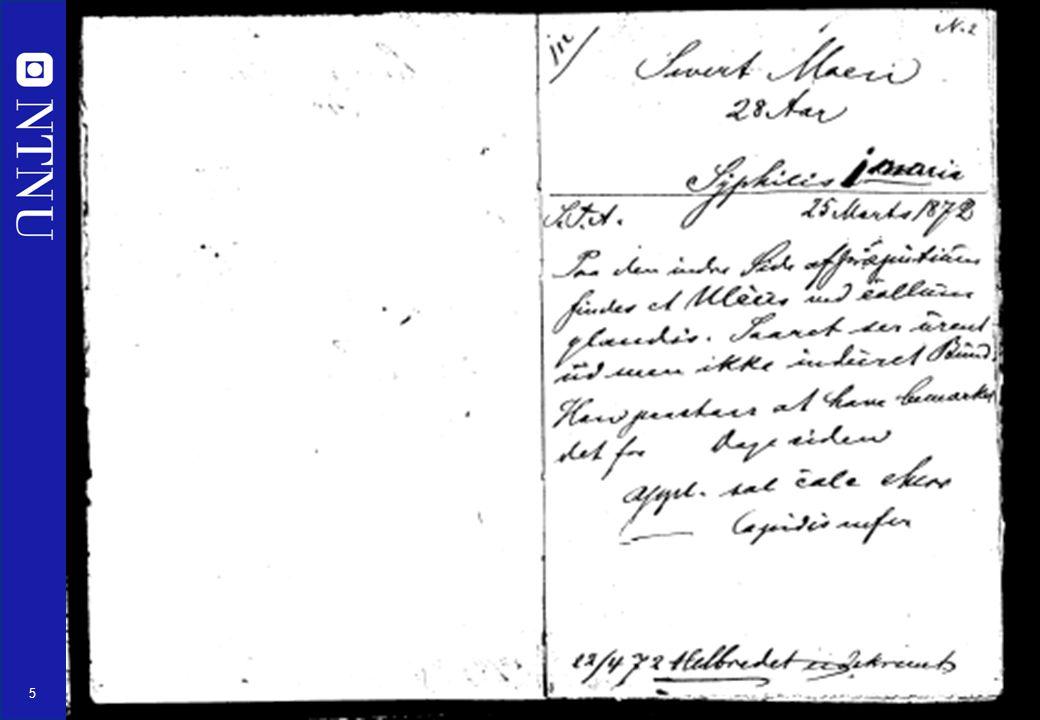 5 Pasientjournal anno 1872
