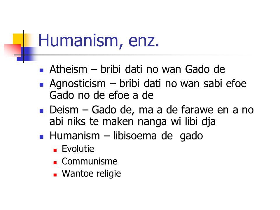 Humanism, enz.