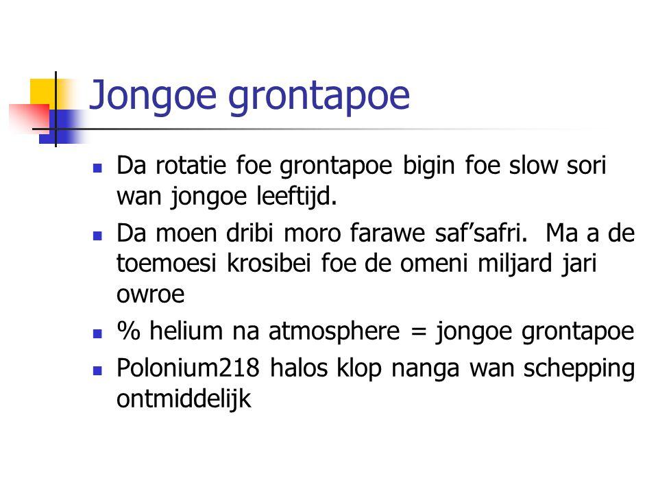 Jongoe grontapoe Da rotatie foe grontapoe bigin foe slow sori wan jongoe leeftijd.