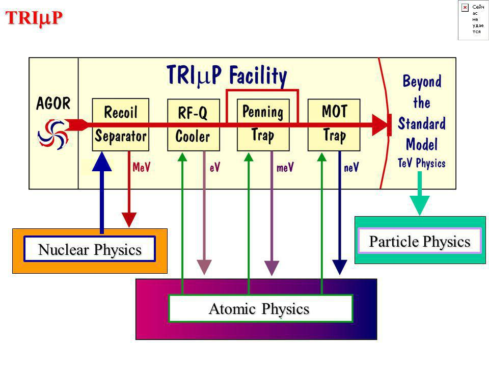 TRI  P Atomic Physics Nuclear Physics Particle Physics