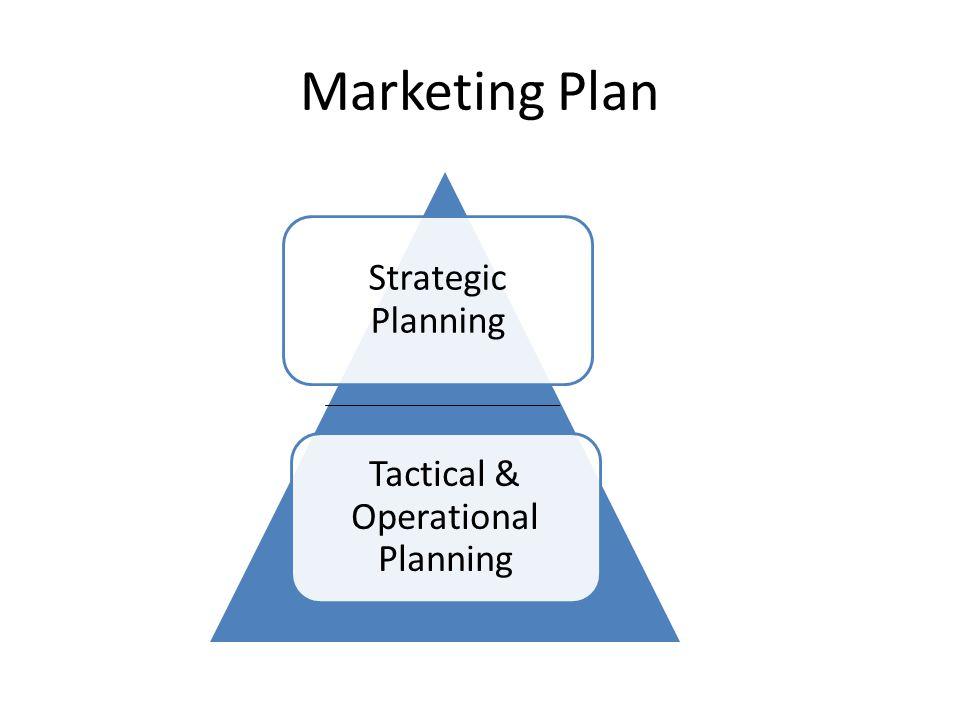 Marketing Plan Strategic Planning Tactical & Operational Planning