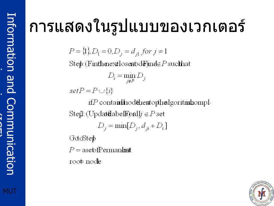 Information and Communication engineering (ICE) MUT การแสดงในรูปแบบของเวกเตอร์