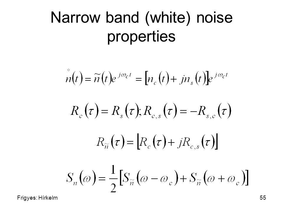 Frigyes: Hírkelm55 Narrow band (white) noise properties