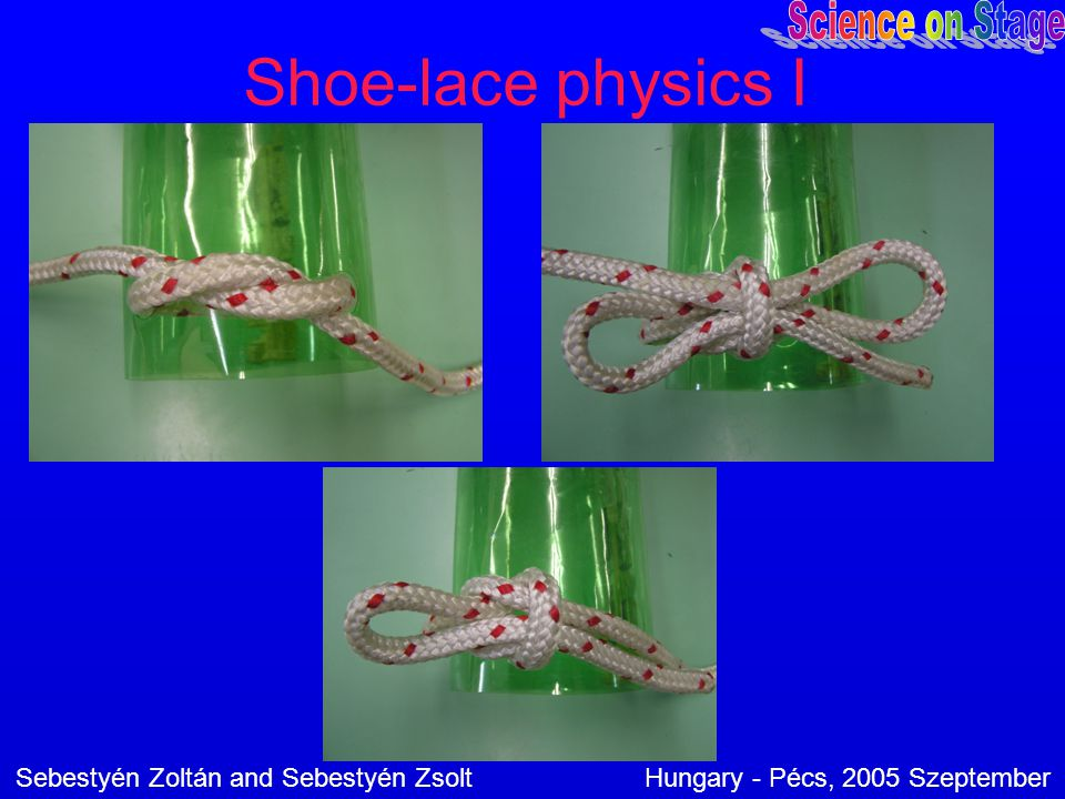 Shoe-lace physics I