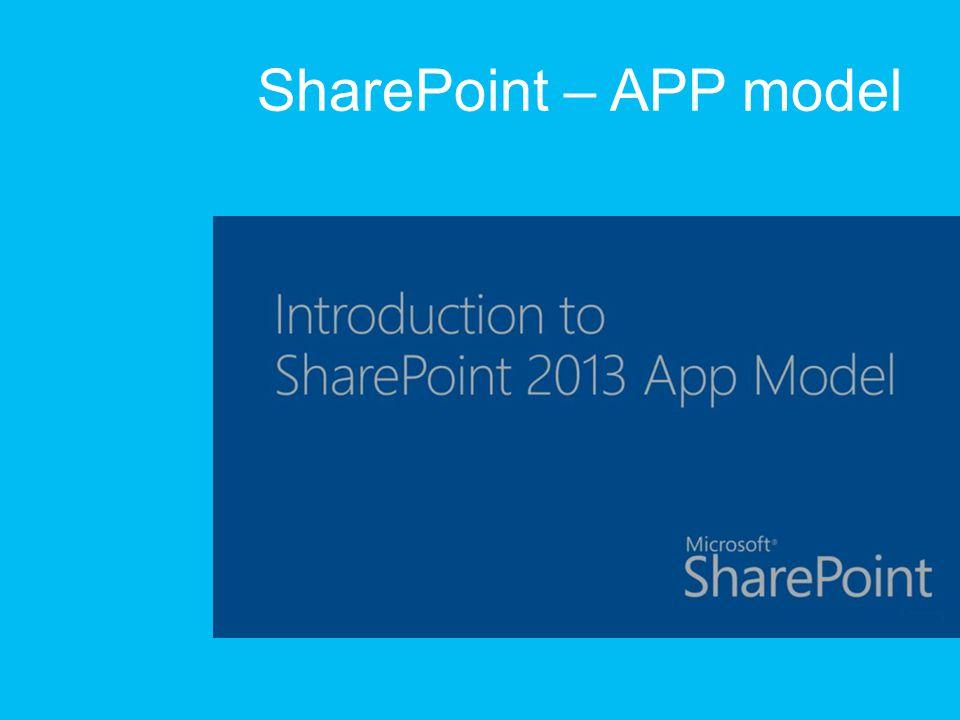 SharePoint – APP model