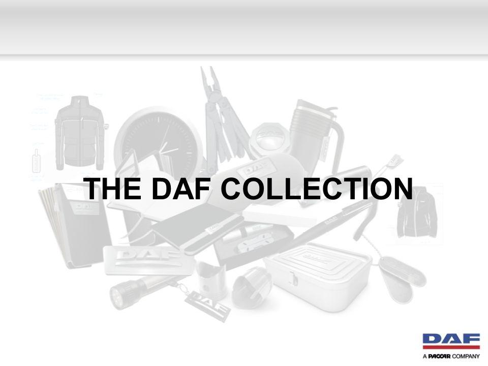 Merchandise (1) DAF Chauffeurstas Part No M003295 DAF Toilettas Part No M003297 DAF Posttas Part No M003307 DAF Paraplu Part No M003321