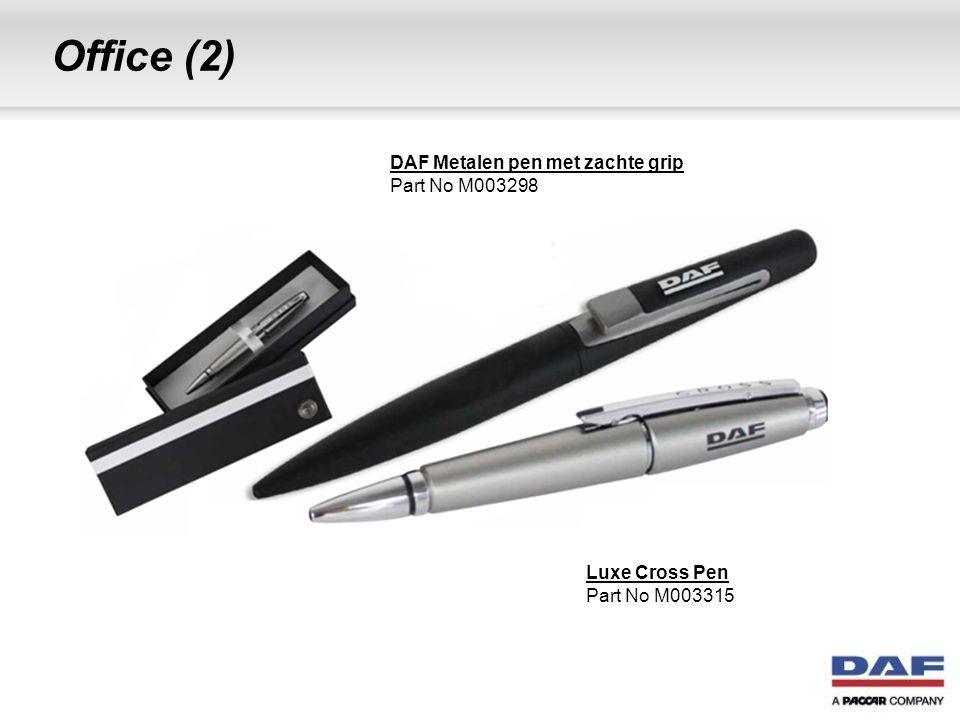 Office (2) Luxe Cross Pen Part No M003315 DAF Metalen pen met zachte grip Part No M003298