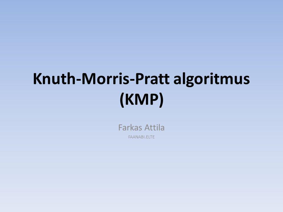 Knuth-Morris-Pratt algoritmus (KMP) Farkas Attila FAANABI.ELTE