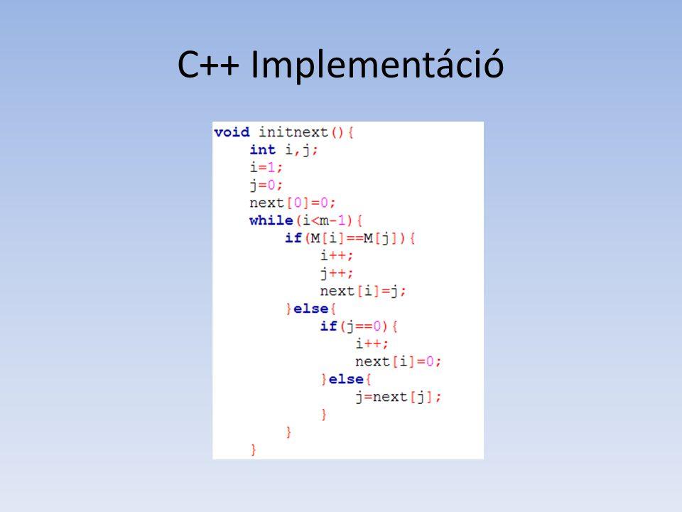 C++ Implementáció